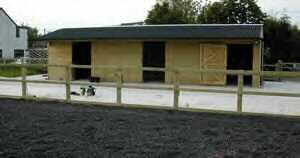 purpose-built horse yard with shelter