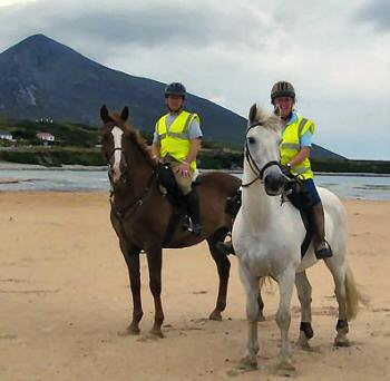 Patricia & Toddy on Achill Beach