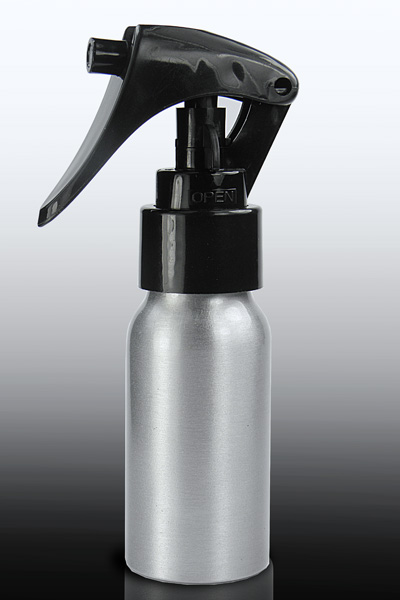 Aluminium bottle 50ml with pump spray